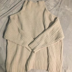 aerie oversized cream turtleneck
